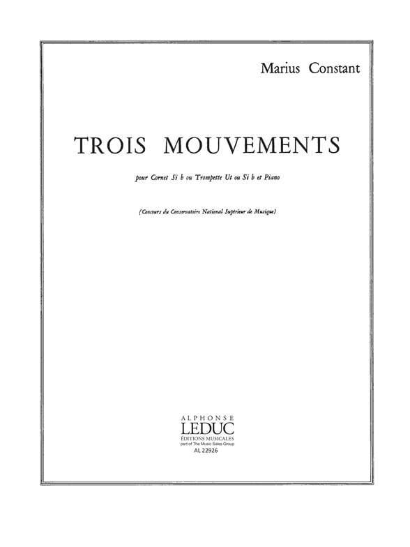 3 Mouvements - Marius Constant - Partition - laflutedepan.com