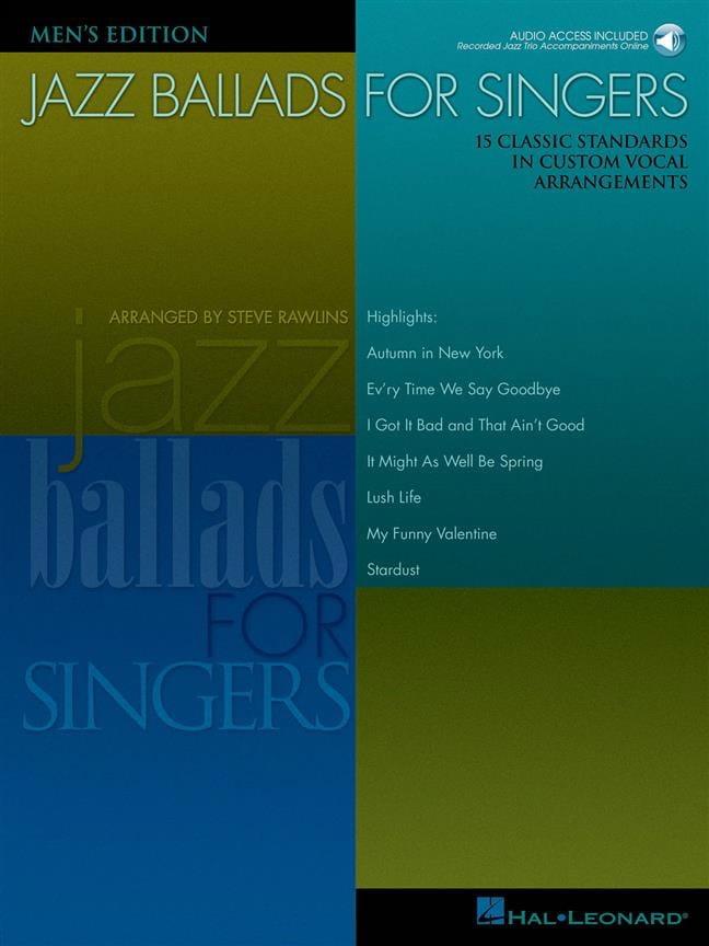 Jazz Ballads For Singers - Men - Partition - laflutedepan.com