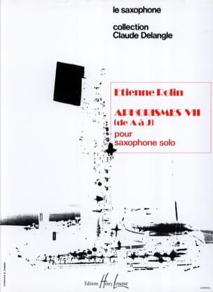 Aphorismes VII A-J Volume 1 Etienne Rolin Partition laflutedepan