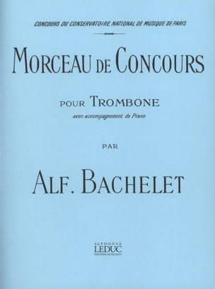 Morceau de Concours Alfred Bachelet Partition Trombone - laflutedepan