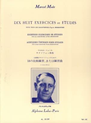 18 Exercices ou études d'après Berbiguier Marcel Mule laflutedepan