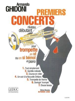 Premiers Concerts Armando Ghidoni Partition Trompette - laflutedepan