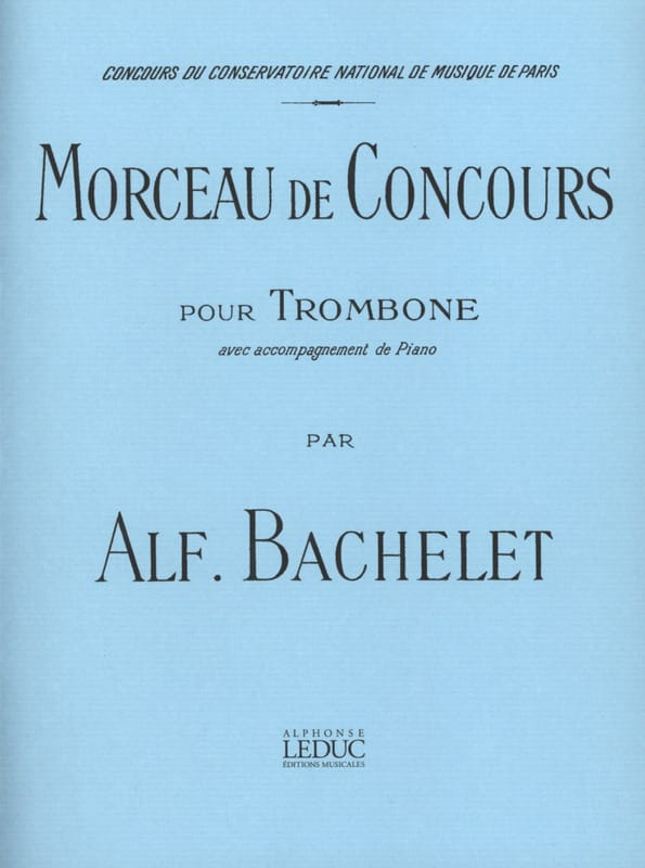 Morceau de Concours - Alfred Bachelet - Partition - laflutedepan.com