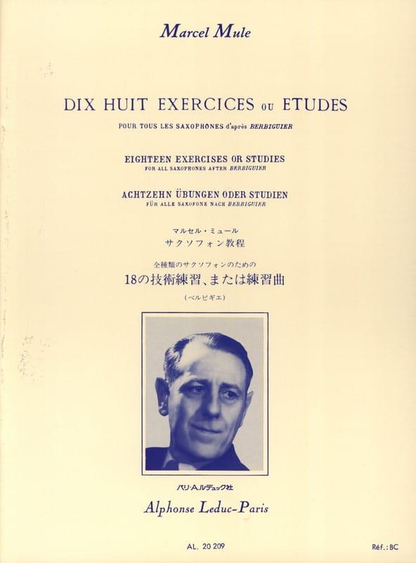 18 Exercices ou études d'après Berbiguier - laflutedepan.com