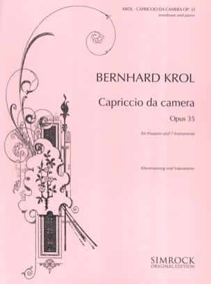 Capriccio da camera opus 35 Bernhard Krol Partition laflutedepan