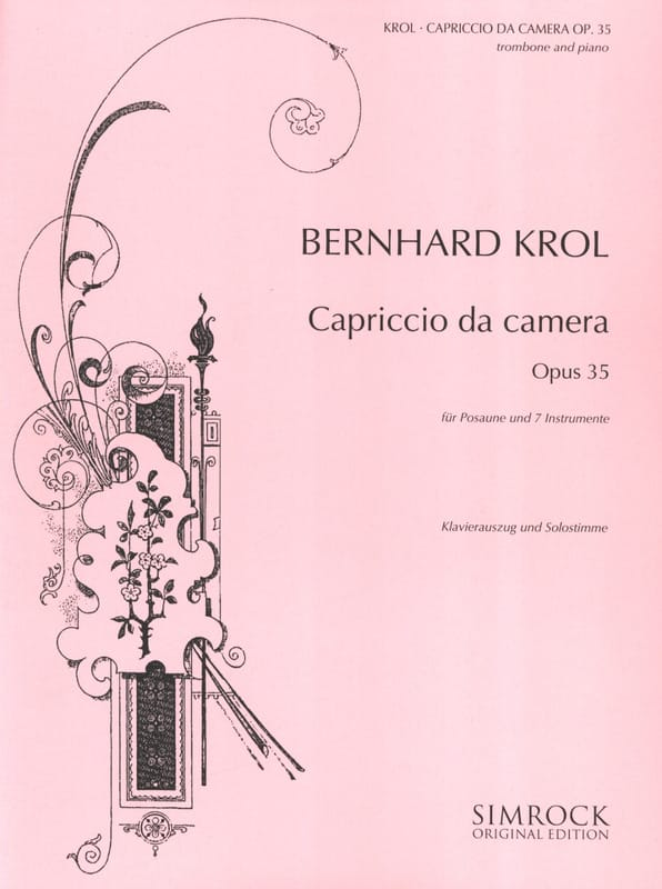 Capriccio da camera opus 35 - Bernhard Krol - laflutedepan.com