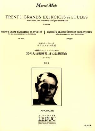 Marcel Mule - 30 Grands Exercices ou Etudes D' Après Soussman Volume 1 - Partition - di-arezzo.fr