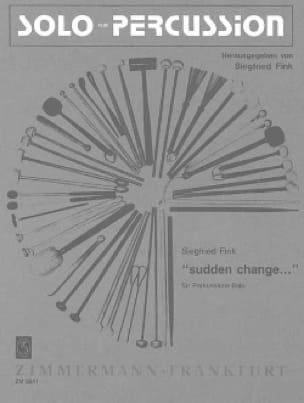 Sudden Change - Siegfried Fink - Partition - laflutedepan.com