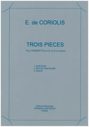 3 Pièces - Emmanuel de Coriolis - Partition - laflutedepan.com