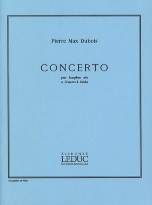 Concerto Pierre-Max Dubois Partition Saxophone - laflutedepan