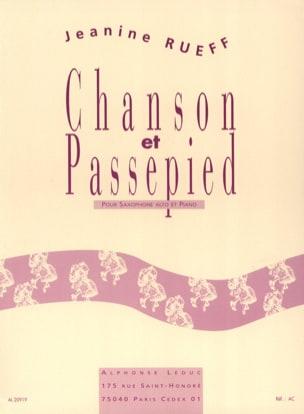 Chanson et passepied Jeanine Rueff Partition Saxophone - laflutedepan