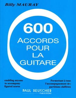 600 Accords Pour la Guitare Billy Mauray Partition laflutedepan