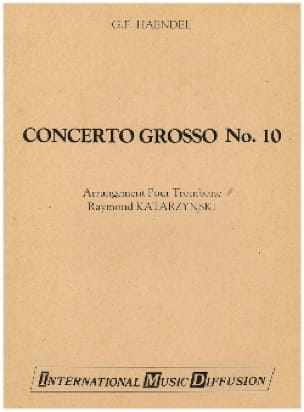 Concerto Grosso N° 10 - HAENDEL - Partition - laflutedepan.com