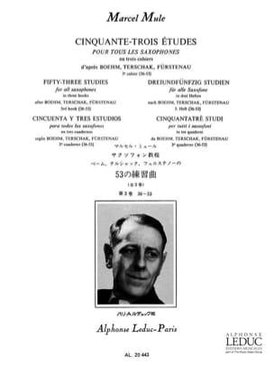 Marcel Mule - 53 Etudes D' Après Boehm, Terschak, Fürstenau Volume 3 36-53 - Partition - di-arezzo.fr