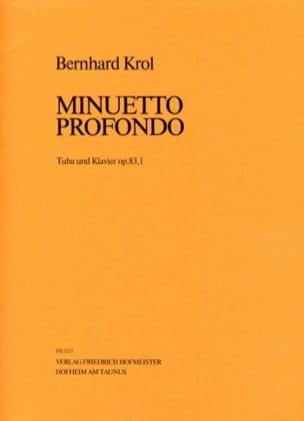 Minuetto Profondo Opus 83,1 Bernhard Krol Partition laflutedepan