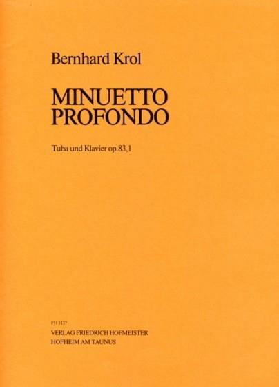 Minuetto Profondo Opus 83,1 - Bernhard Krol - laflutedepan.com