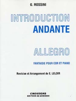 Introduction Andante Allegro ROSSINI Partition Cor - laflutedepan
