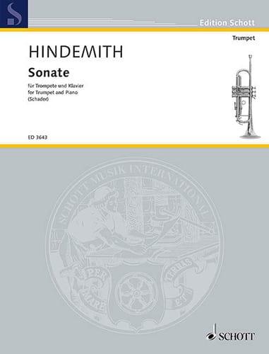 Sonate - HINDEMITH - Partition - Trompette - laflutedepan.com