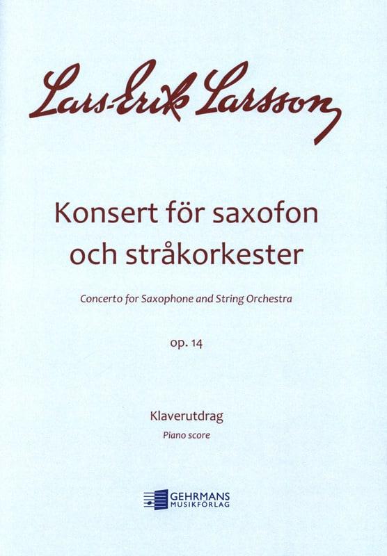 Konsert For Saxofon Och Strakorkester, Op. 14 - laflutedepan.com
