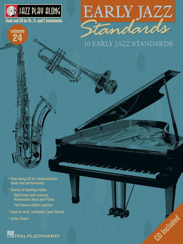 Jazz play-along volume 24 - Early Jazz Standards - laflutedepan.com