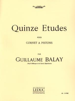 15 Etudes Guillaume Balay Partition Trompette - laflutedepan