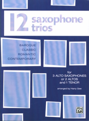 12 Saxophone Trios Partition Saxophone - laflutedepan