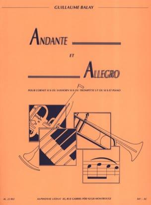 Andante Et Allegro Guillaume Balay Partition Trompette - laflutedepan