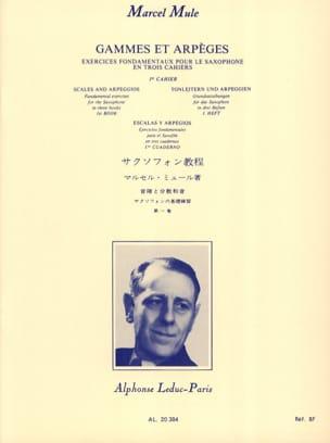 Gammes et Arpèges - Volume 1 Marcel Mule Partition laflutedepan