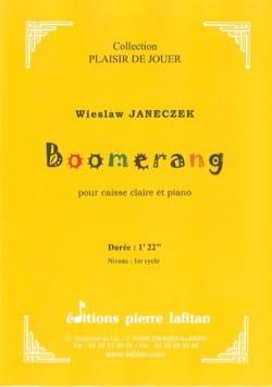Boomerang Wieslaw Janeczek Partition Caisse-claire - laflutedepan