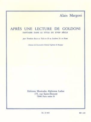 Après Une Lecture de Goldoni Alain Margoni Partition laflutedepan