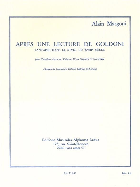 Après Une Lecture de Goldoni - Alain Margoni - laflutedepan.com