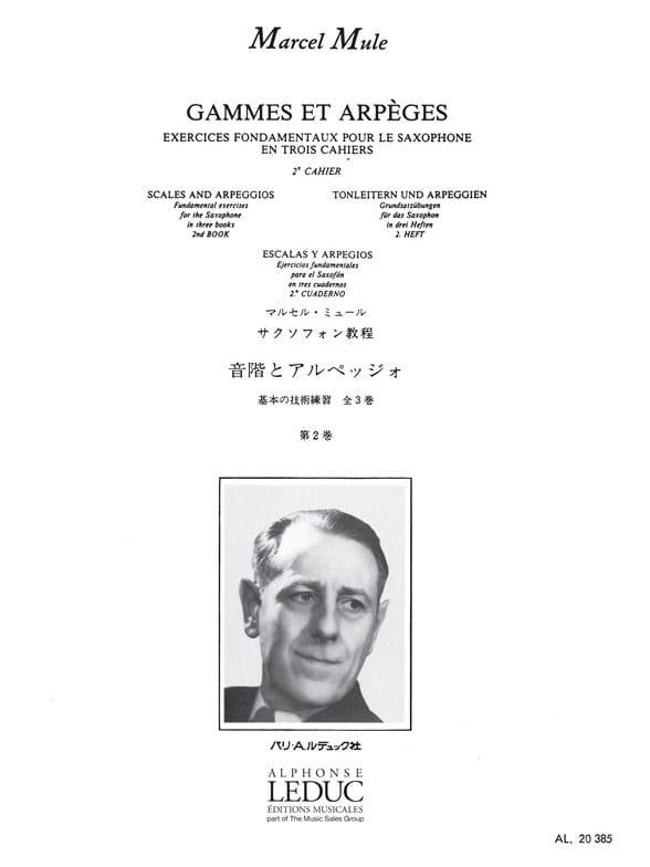 Gammes Et Arpèges Volume 2 - Marcel Mule - laflutedepan.com