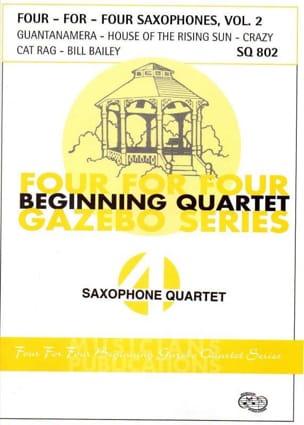 Four For Four Saxophones Volume 2 Partition Saxophone - laflutedepan