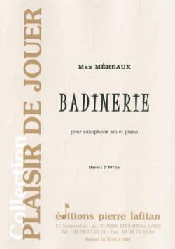 Badinerie Max Méreaux Partition Saxophone - laflutedepan