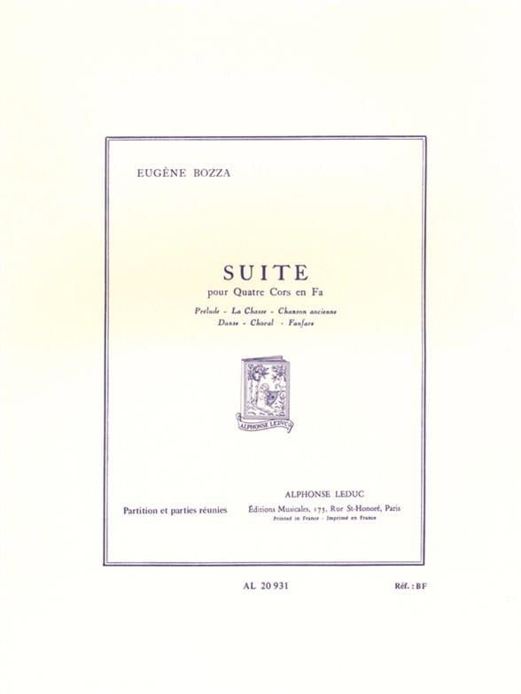 Suite - Eugène Bozza - Partition - Cor - laflutedepan.com