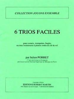 6 Trios Faciles Julien Porret Partition Trompette - laflutedepan