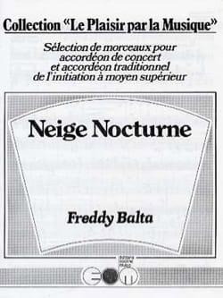 Neige Nocturne Freddy Balta Partition Accordéon - laflutedepan