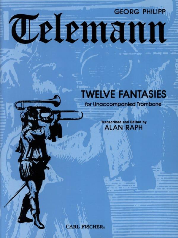 12 Fantaisies - TELEMANN - Partition - Trombone - laflutedepan.com