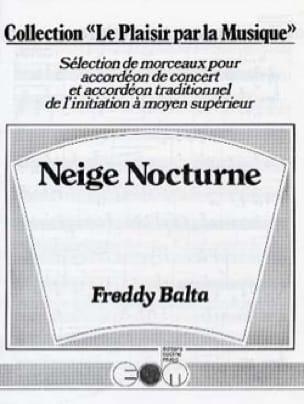 Neige Nocturne - Freddy Balta - Partition - laflutedepan.com