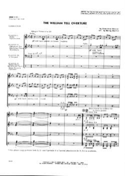 The William Tell Overture - ROSSINI - Partition - laflutedepan.com