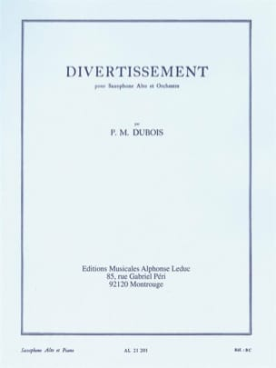 Divertissement Pierre-Max Dubois Partition Saxophone - laflutedepan