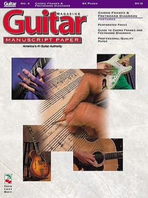- Guitar Manuscript Paper N°4. Chord Frames & Fretboard Diagrams - Partition - di-arezzo.fr