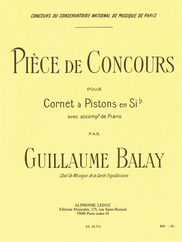 Pièce de Concours - Guillaume Balay - Partition - laflutedepan.com