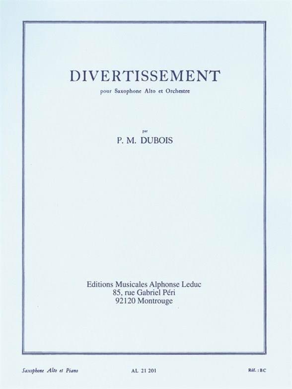 Divertissement - Pierre-Max Dubois - Partition - laflutedepan.com