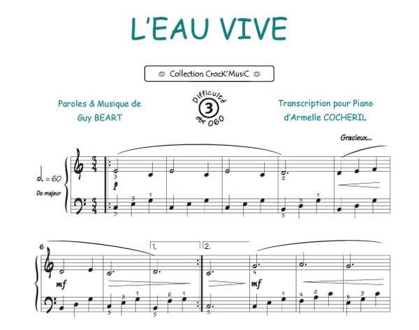 L'Eau Vive - Guy Béart - Partition - laflutedepan.com
