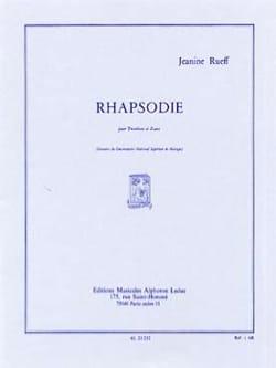 Rhapsodie Jeanine Rueff Partition Trombone - laflutedepan