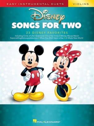 Disney Songs for Two Violins DISNEY Partition Violon - laflutedepan