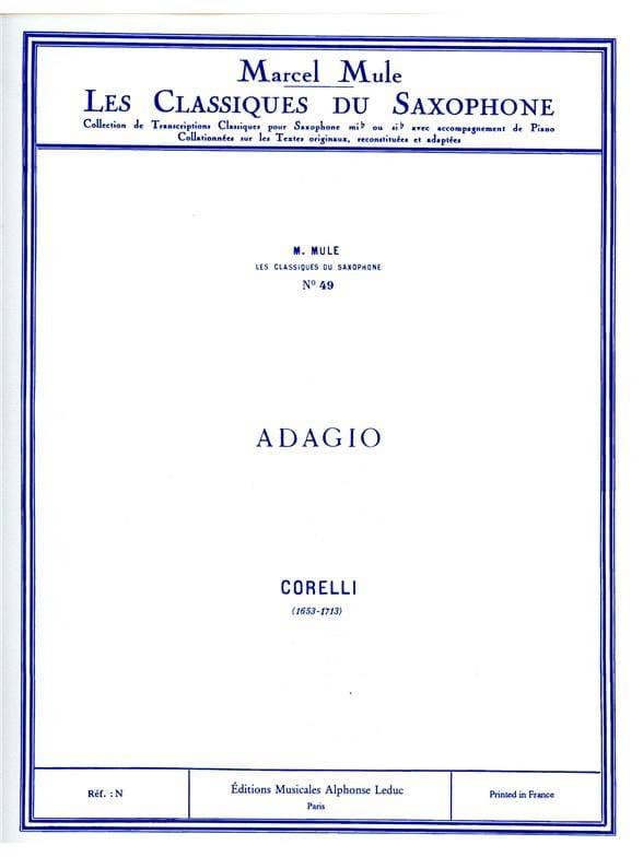 Adagio - CORELLI - Partition - Saxophone - laflutedepan.com