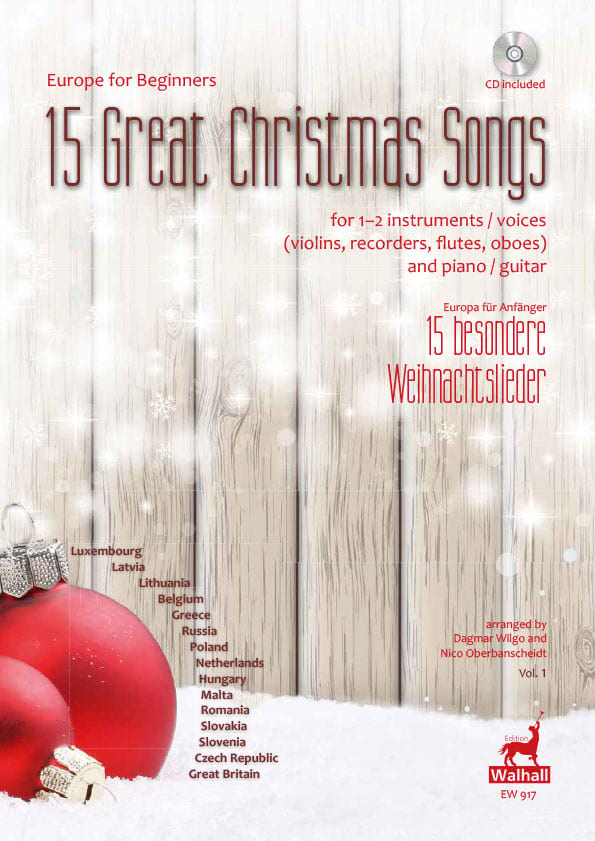 15 Great Christmas Songs - Noël - Partition - laflutedepan.com