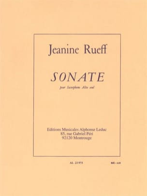 Sonate Jeanine Rueff Partition Saxophone - laflutedepan